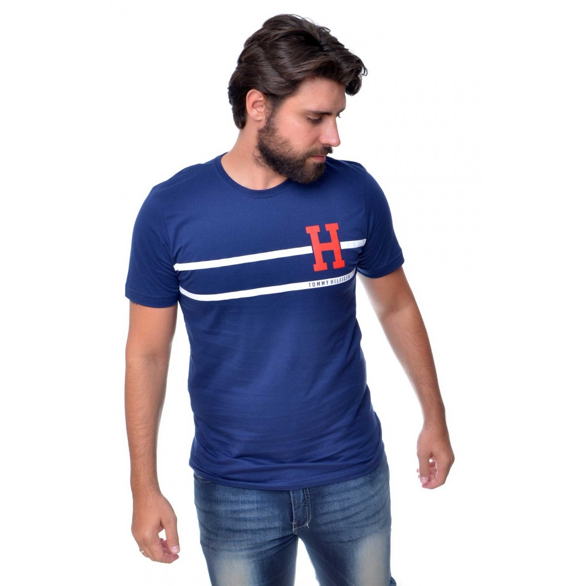 Camiseta TH Stripe Marinho