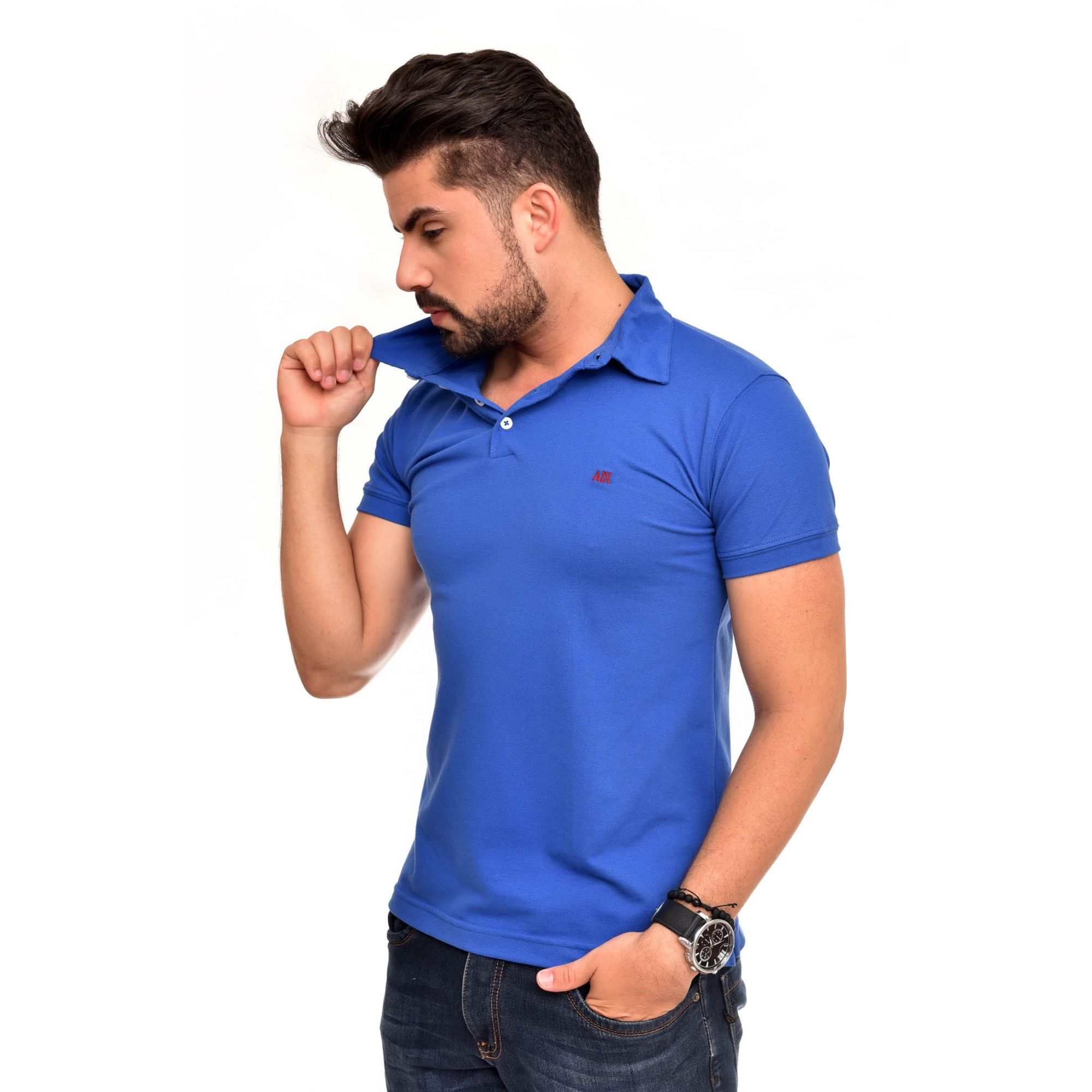 Polo Armani Exchange Azul Royal