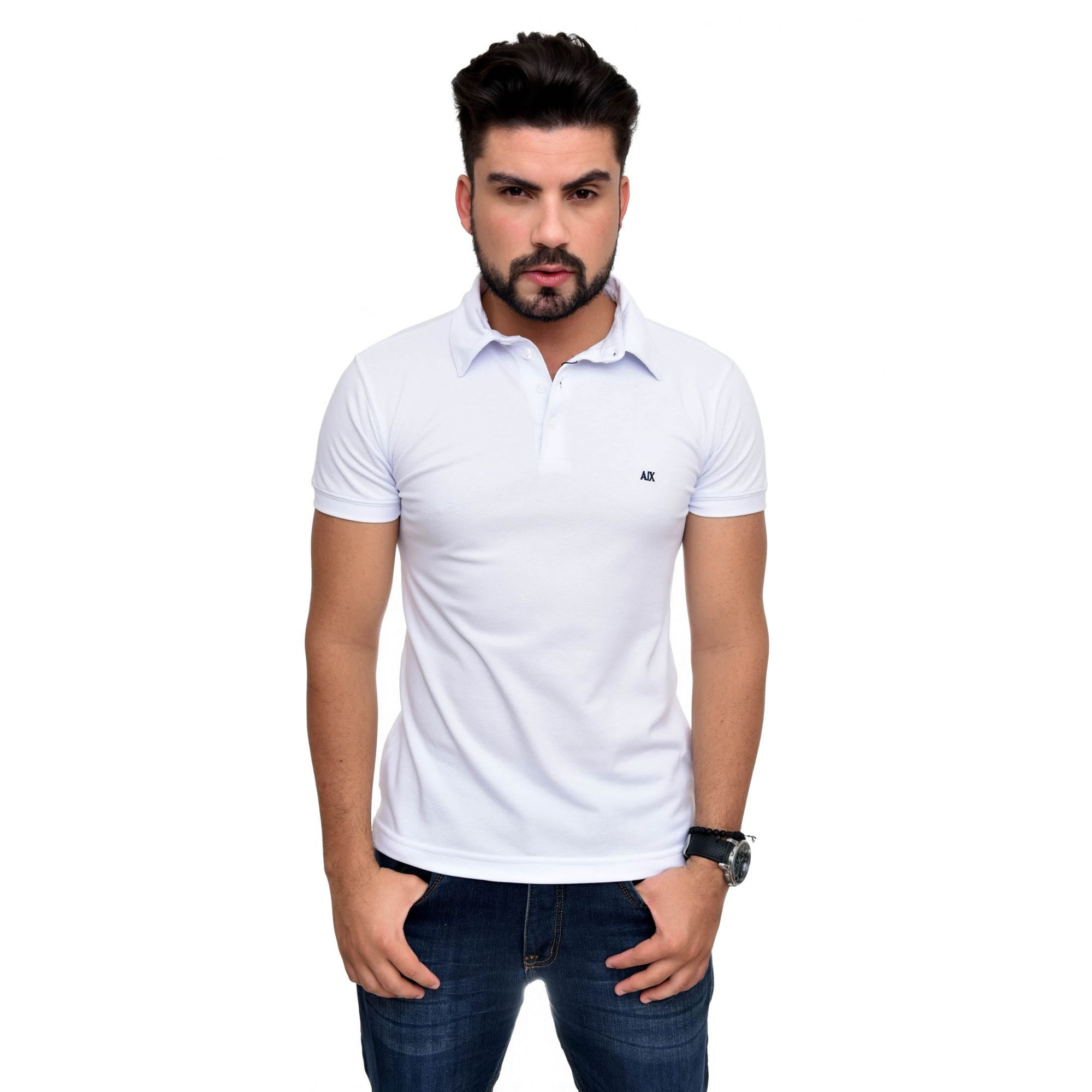 Polo Armani Exchange Branca