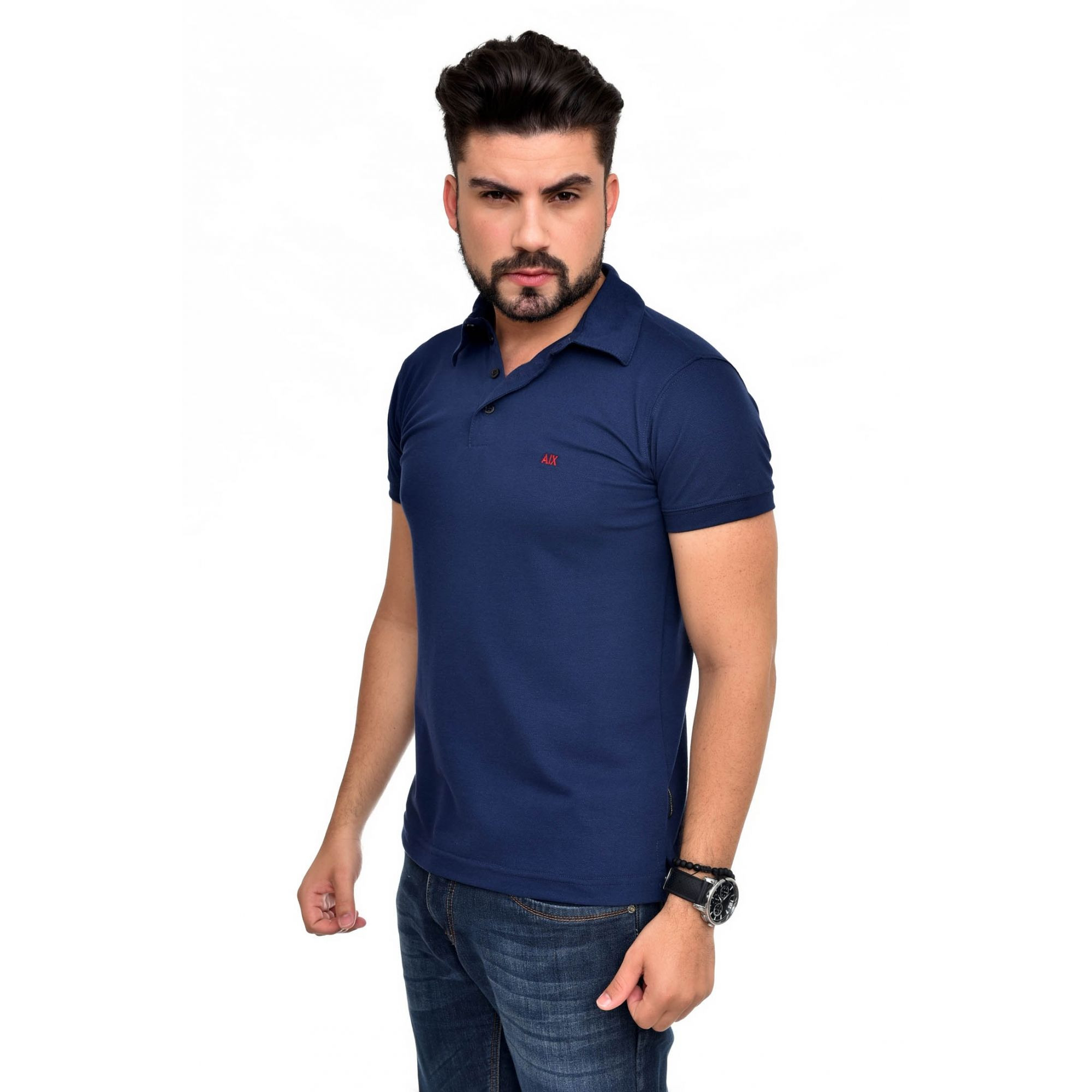 Polo Armani Exchange Marinho