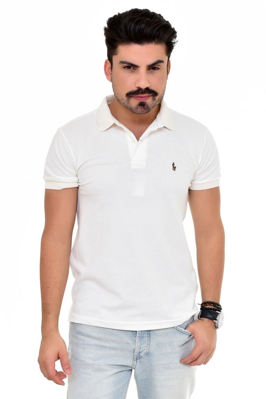 Polo Basic RL Creme Colored