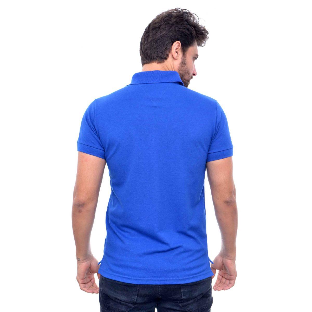 Polo Tommy Hilfiger Azul Royal  - Ca Brasileira