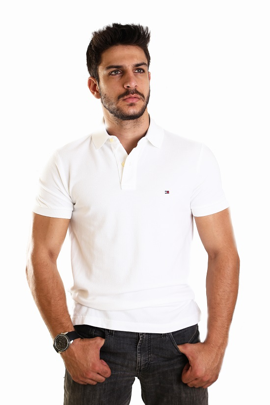 Polo Tommy Hilfiger Branca