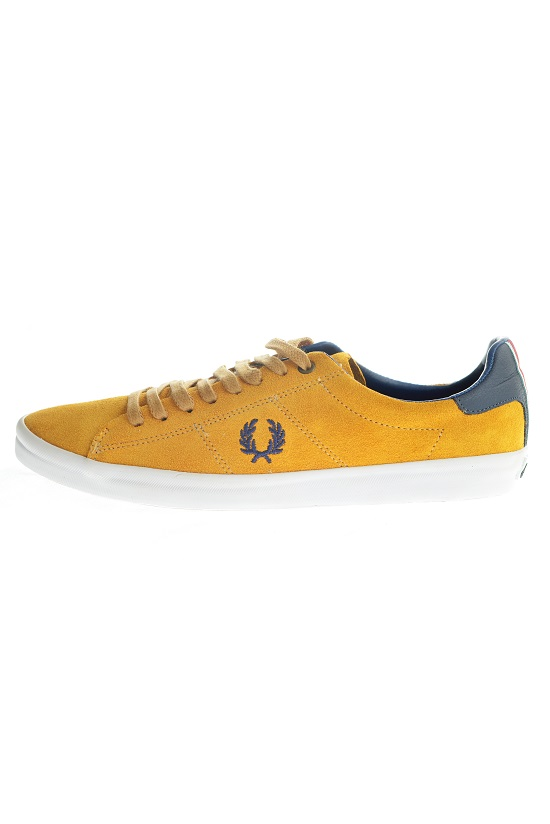 Sapatênis Fred Perry Howells Unlined  Mostarda  - Ca Brasileira