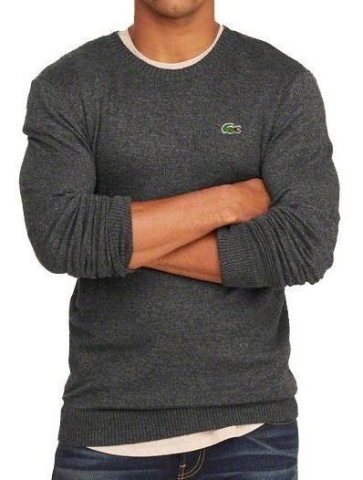 Suéter LC Basic Leve Mescla Escuro  - Slim Fit
