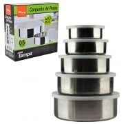 Conjunto de Potes em Inox - 5 Peças