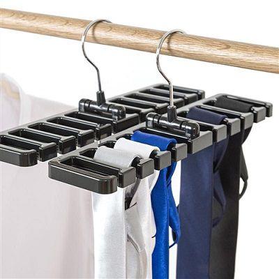 Cabide Organizador de Cintos e Gravatas   - Eu Organizo