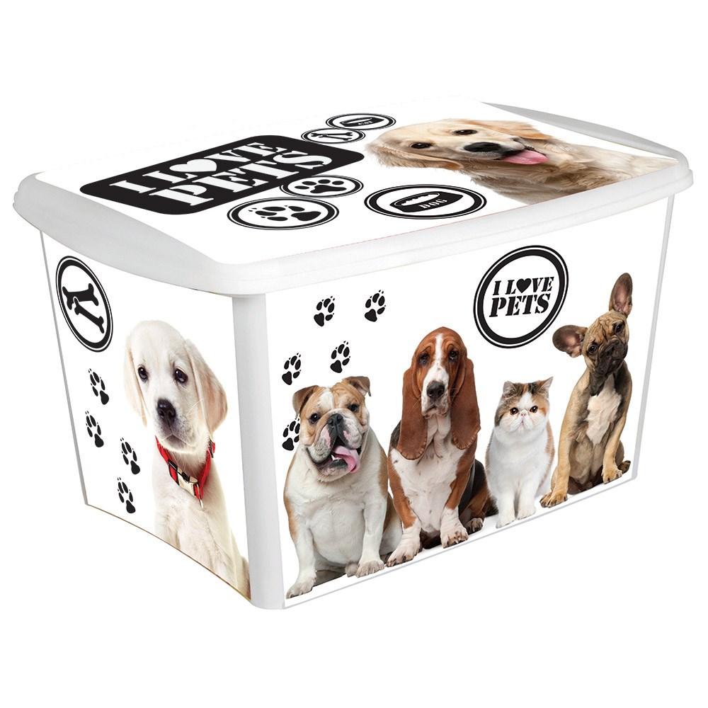 Caixa Organizadora Decora Pet - 18,7 litros  - Eu Organizo