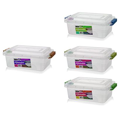 Caixa Organizadora Transparente - 2,5 litros  - Eu Organizo