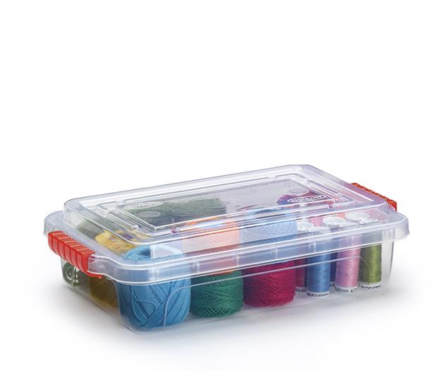Caixa Organizadora Transparente 2 Litros  - Eu Organizo