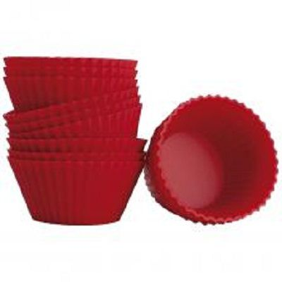 Forma para Cupcakes Hauskraft Vermelho  - Eu Organizo