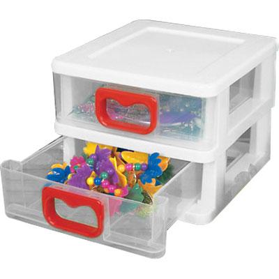 Gaveteiro Plástico - 2 Gavetas  - Eu Organizo