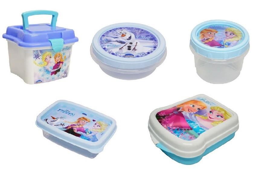Kit de Potes - Disney Frozen - 5 unidades  - Eu Organizo