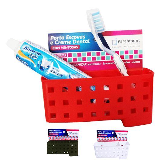 Porta Escova e Creme Dental  - Eu Organizo