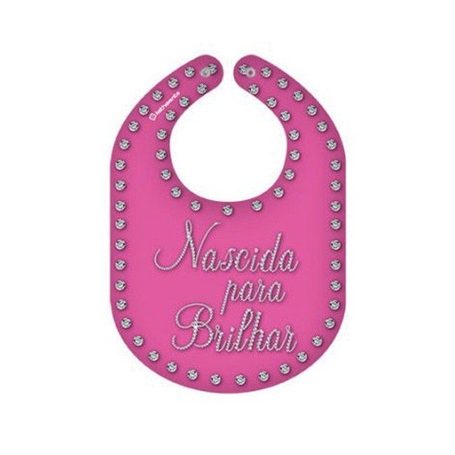 Babador Feminino Rosa Nascida para Brilhar