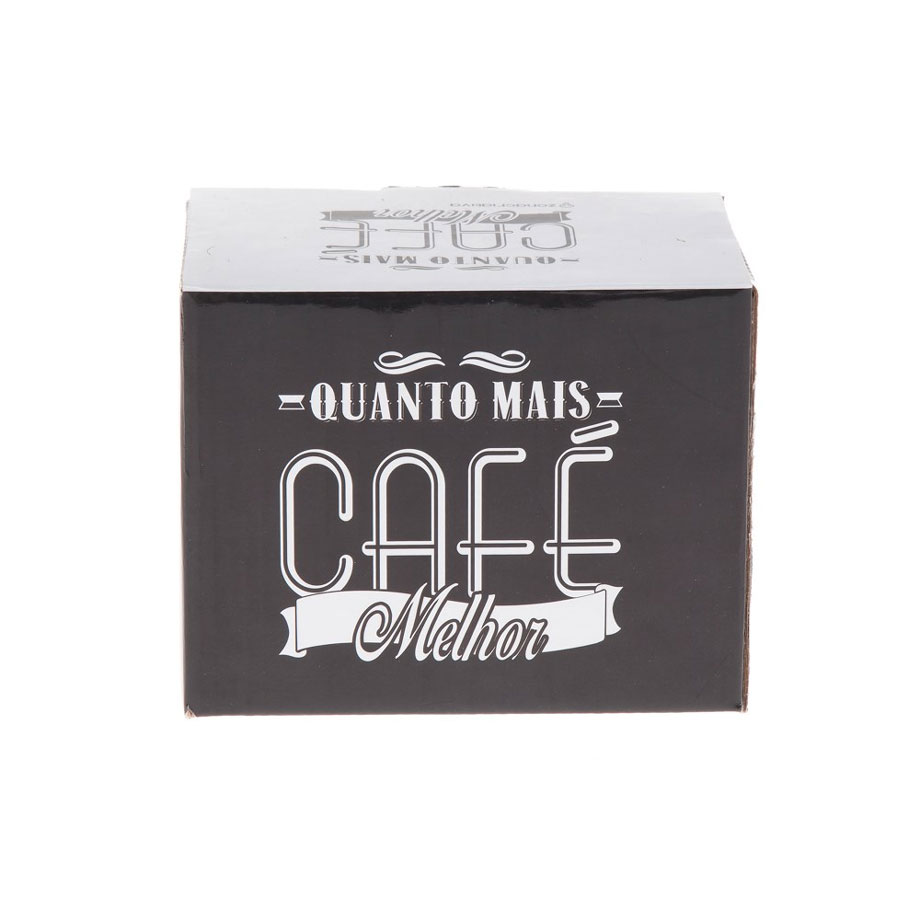 Caneca Grande 650ml Quanto Mais Café Melhor