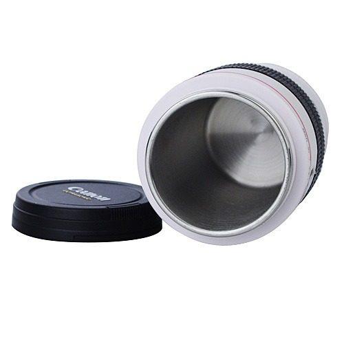 Caneca Canon Branca Macro Ef 100mm F/2.8 Em Formato De Lente