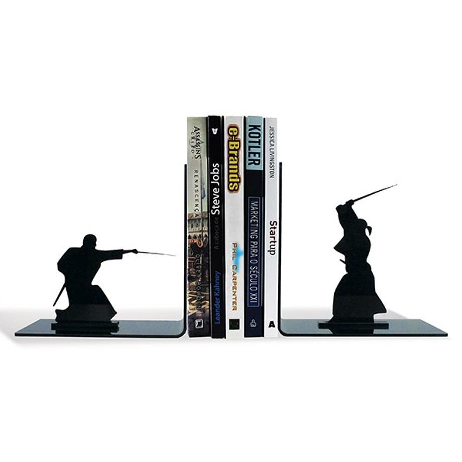 Armario De Cozinha Casas Bahia Preto E Branco ~ Suporte Aparador De Livros Dvd Cd Samurai Espadachim Luta Presente Super Loja de Presentes