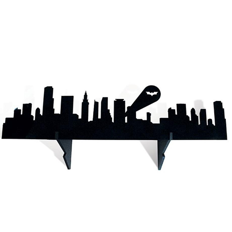 Prateleira de Madeira Batman Gotham City