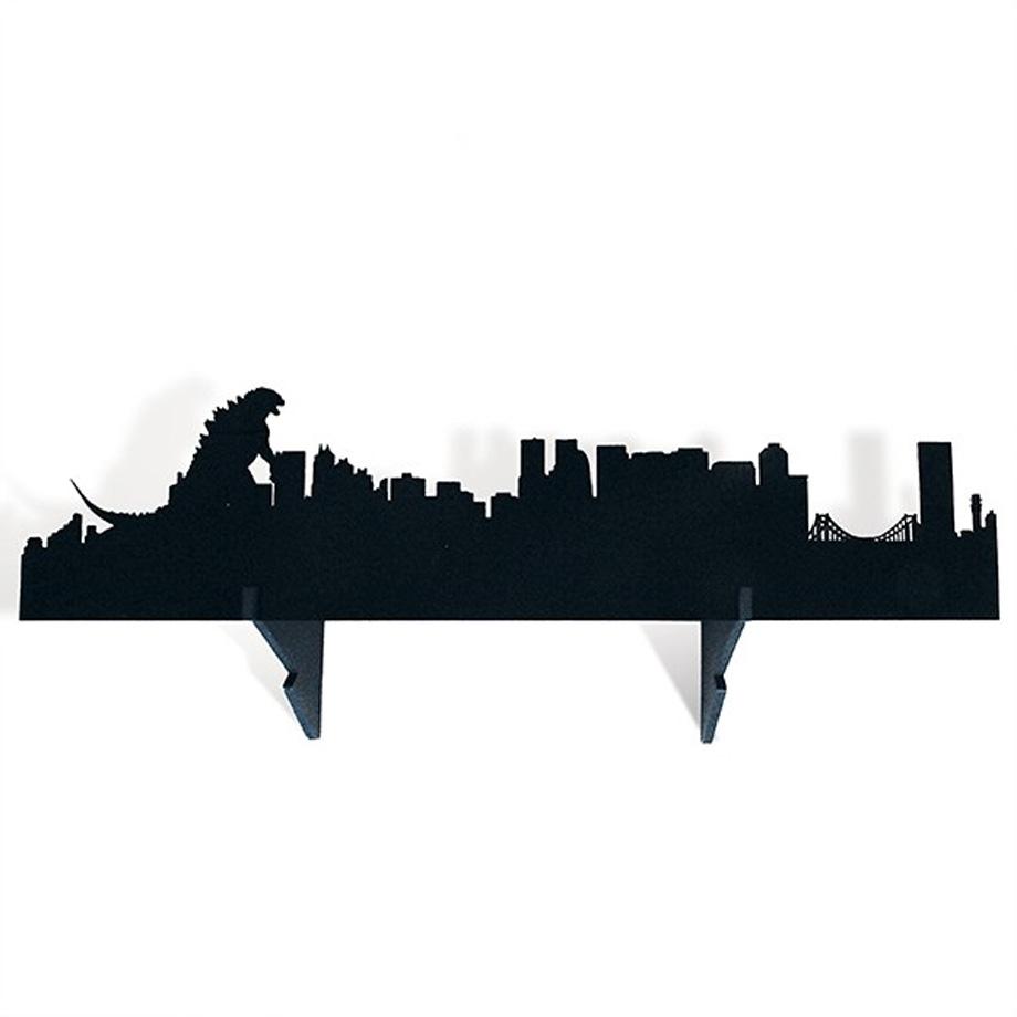 Prateleira de Madeira Zilla Godzilla