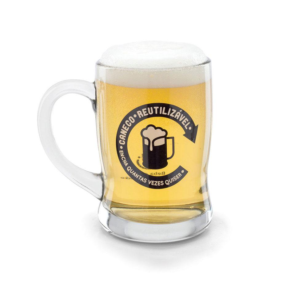 Caneco de Chopp e Cerveja - Reutilizável
