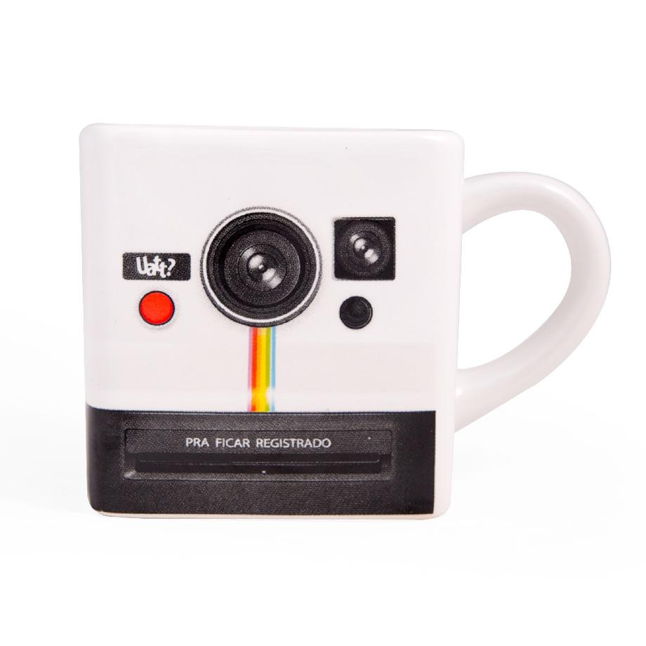 Caneca Quadrada Photo Retro Polaroid