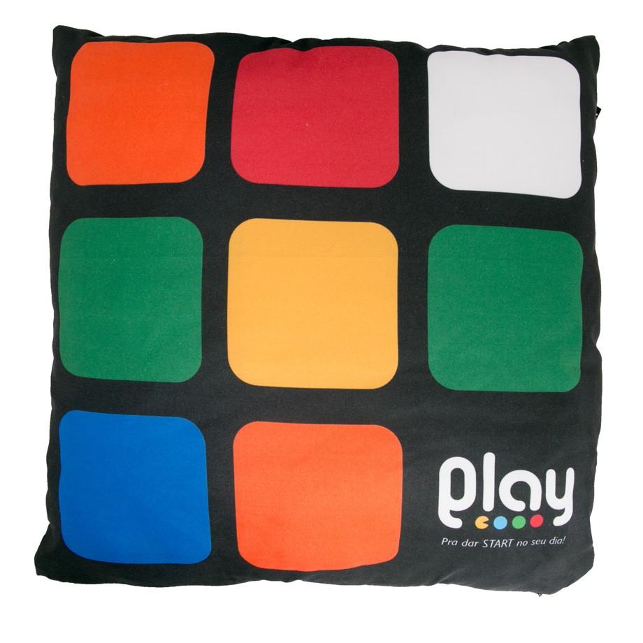 Capa Almofada Cubo Mágico 3x3 Play Para Dar Start no seu dia