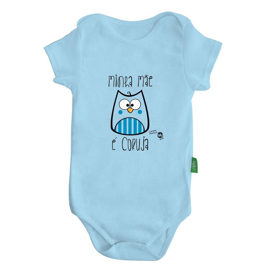 Macacão Body Bebê Luxo - Mãe Coruja - Menino
