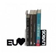 Suporte Aparador De Livros Dvd Cd Decorativo Eu Amo Livros