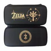 Case Capa Bag Nintendo Switch Estampa Zelda Em Dourado