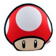 Almofada Formato Cogumelo Vermelho Super Mario
