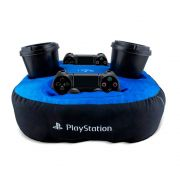 Almofada Porta Controle e Copo Playstation PS4