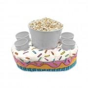Almofada Porta Pipoca e Copos Cupcake