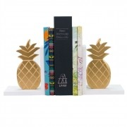 Aparador de Livros Abacaxi Dourado Madeira