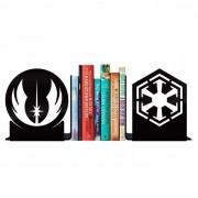 Aparador de Livros Star Wars - Jedis vs Sith