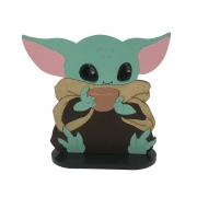 Escultura Boneco Baby Yoda Sentado Star Wars