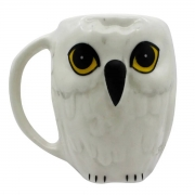 Caneca 3D Coruja Edwiges Hedwig Harry Potter