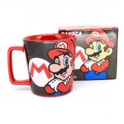 Caneca Super Mario Bros Retrô Nintendo