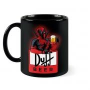 Caneca DeadPool Duff Beer Deadbeer