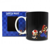 Caneca Mágica Termossensível Super Mario Peach e Bowser