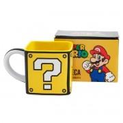 Caneca Quadrada Bloco Mario - Bloco Interrogação Super Mario