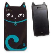 Capa para Celular Iphone 4 Animal - Gato