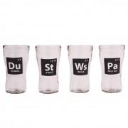 Conjunto de 4 Copos - Tabela Periódica