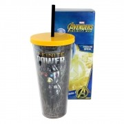 Copo Canudo Metálico Infinite Power 650 ml - Vingadores