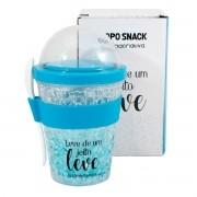 Copo Snack Congelável com Colher - Leve de um Jeito Leve