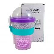 Copo Snack Congelável com Colher - Não Perca