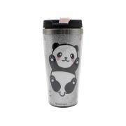 Copo Térmico com Glitter Panda 450 ml