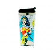 Copo Térmico Mulher Maravilha Quadrinhos DC Comics