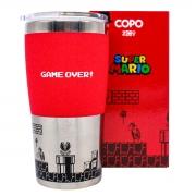 Copo Viagem Mario Game Over Retro Nintendo