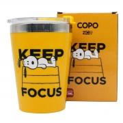 Copo Viagem Snoopy Charlie Brown Keep Focus/Mantenha o Foco